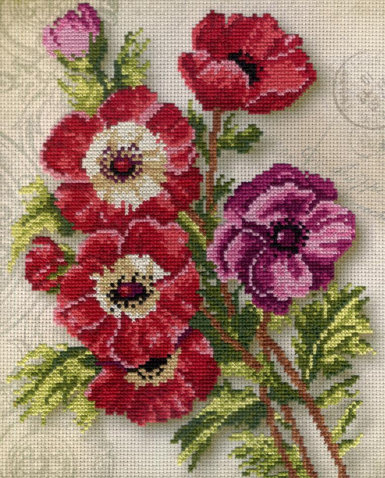 Набор для вышивки крестом М.П.Студия РК-318 «Анемоны»