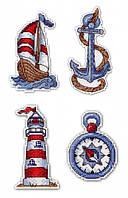 Набор для вышивки крестом М.П.Студия Р-275 «Морское настроение. Магниты»