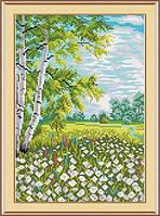 Набор для вышивки крестом М.П.Студия М-019 «Хоровод ромашек»