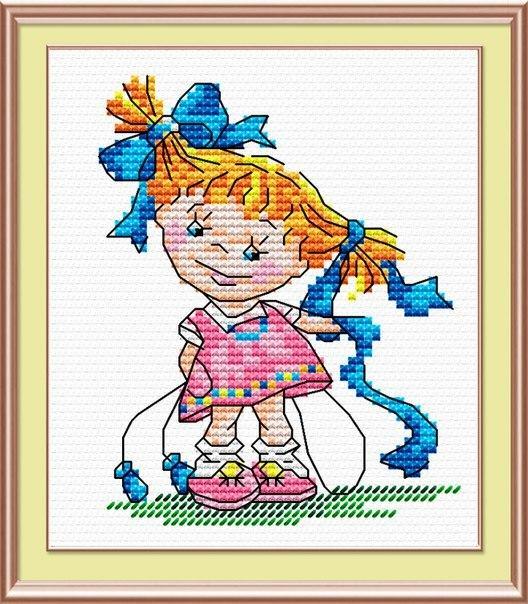 Набор для вышивки крестом М.П.Студия М-038 «Озорная девчонка»