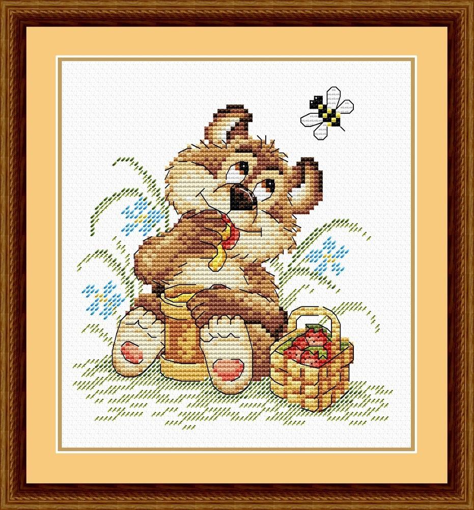 Набір для вишивки хрестом М.П.Студія М-076 «Мішкіна радість»