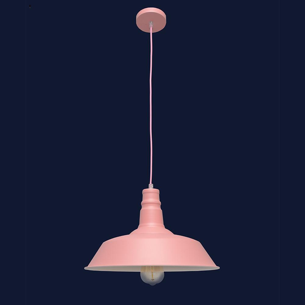 Висячий светильник металлический в стиле лофт цвет розовый Levistella&7529520 ROSE(360мм)