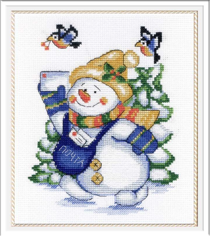 Набір для вишивки хрестом М.П.Студія НВ-256 «Сніговик»