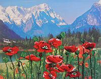 Набір для вишивки бісером М.П.Студія БГ-224 «Маки і гори»