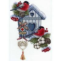 Набір для вишивки хрестом М.П.Студія НВ-714 «Морозне гніздечко»