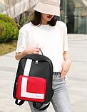 Рюкзак жіночий чорний з нейлонової тканини, фото 2