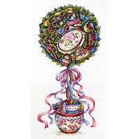 Набор для вышивки крестом М.П.Cтудия НВ-691 «Топиарий радости»