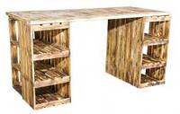 Дерев'яний стіл лофт
