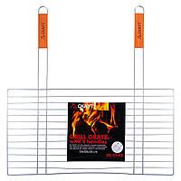 Решетка для гриля Скаут 58х30см с двумя деревянными ручками KM-0742, фото 1