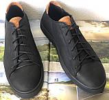 Wrangler жесть! Стильные кожаные демисезонные мужские туфли кеды на ровной подошве, фото 6