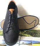 Wrangler жесть! Стильные кожаные демисезонные мужские туфли кеды на ровной подошве, фото 4