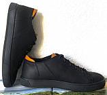 Wrangler жесть! Стильные кожаные демисезонные мужские туфли кеды на ровной подошве, фото 5