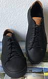 Wrangler жесть! Стильные кожаные демисезонные мужские туфли кеды на ровной подошве, фото 8