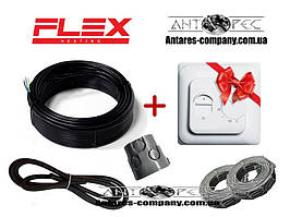 Двужильный нагревательный кабель Flex ( 2 м.кв)  350 вт Серия  RTC 70.26 ( экранированный тонкий)