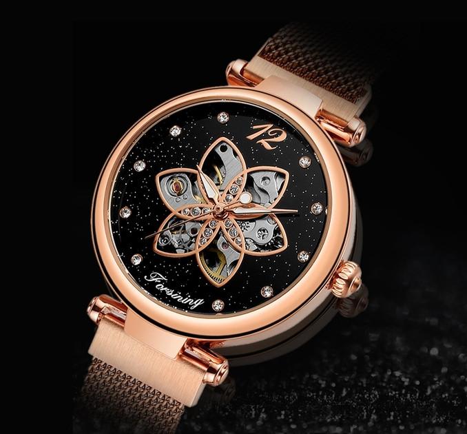 Жіночі наручні годинники Forsining Romantic
