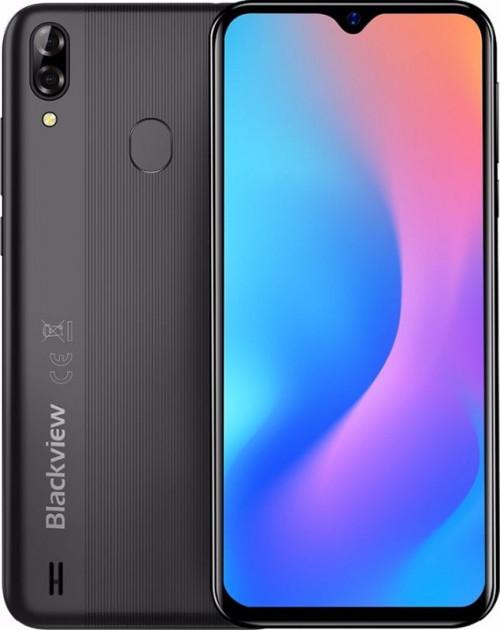 Смартфон черный с большим дисплеем и мощной батареей на 2 sim Blackview A60 Pro black 1/16Gb