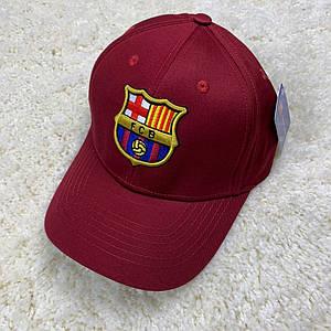 Кепка/бейсболка ФК Барселона (Barcelona) 2020 вишнева