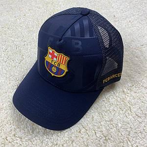 Кепка, бейсболка ФК Барселона темно-синя
