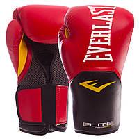 Перчатки боксерские PU на липучке EVERLAST P00001243 PRO STYLE ELITE (р-р 12oz, красный), фото 1