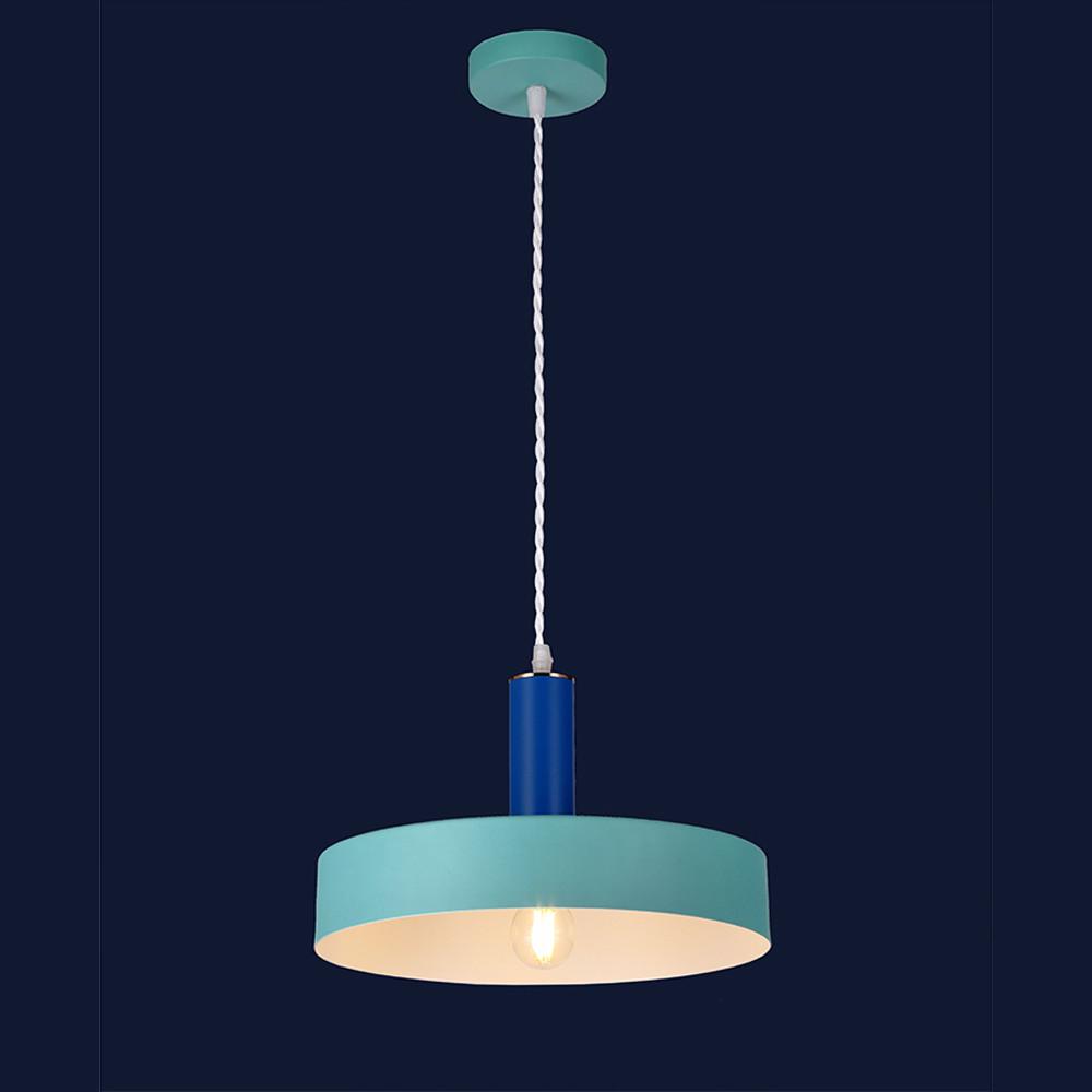 Висячий светильник металлический в стиле лофт цвет синий &7529516 BLUE-INDIGO