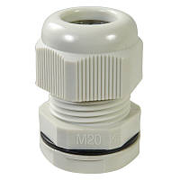 Ввод кабельный M20x1.5 под кабель (8-12мм) IP68 (серый) пластик (Haupa) 250044