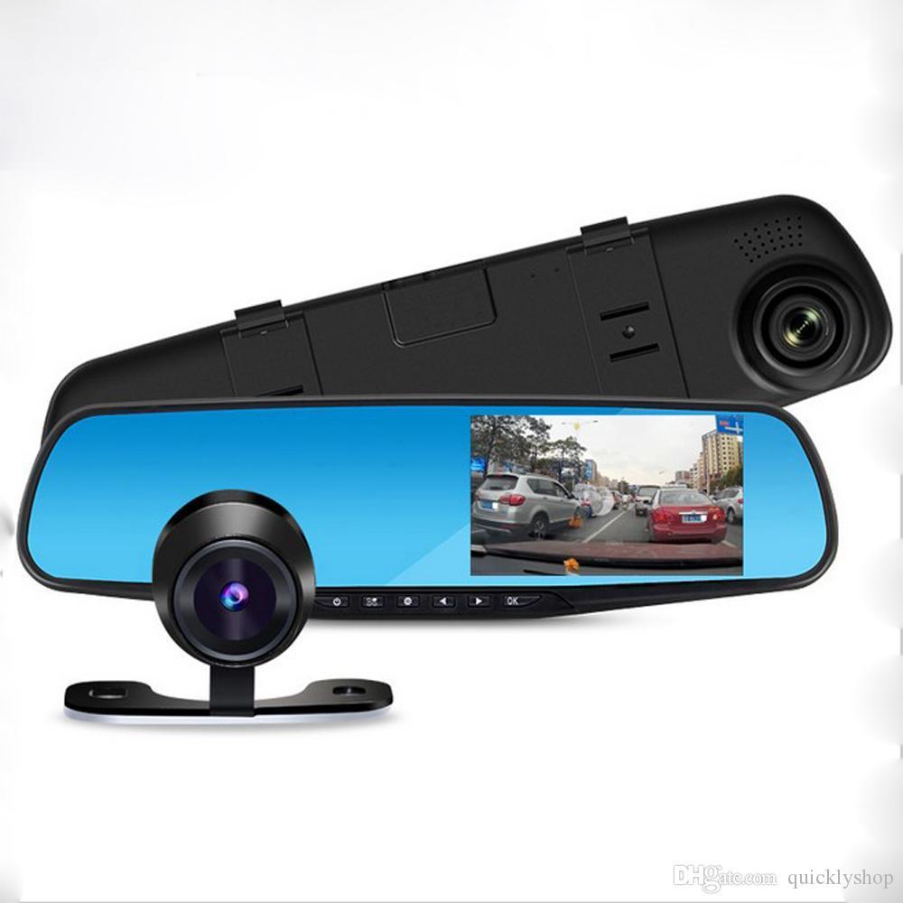 Зеркало видеорегистратор 2 две камеры заднего вида, регистратор автомобильный
