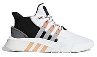 """Мужские кроссовки Adidas Equipment *EQT* Bask ADV """"Yeasy Orange"""" - """"Белые Оранжевые Черные"""" (Реплика ААА+)"""