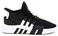 """Мужские кроссовки Adidas Equipment *EQT* Bask ADV """"Black White"""" - """"Черные Белые"""" (Реплика ААА+)"""