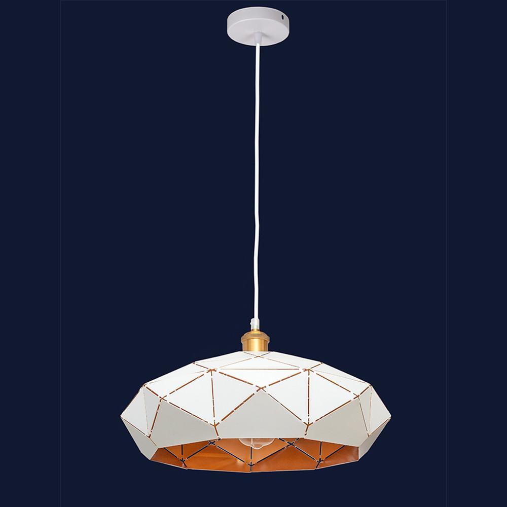 Висячий светильник металлический в стиле лофт цвет белый Levistella&7529522 WH(350мм)