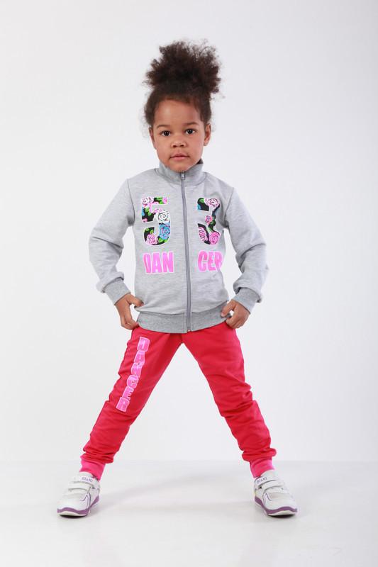 Стильный костюм спортивный детский для девочки с принтом Original players двухнитка