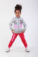 Спортивный детский костюм Атлетик для девочки двухнитка