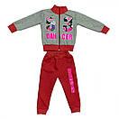 Стильный костюм спортивный детский для девочки с принтом Original players двухнитка, фото 4