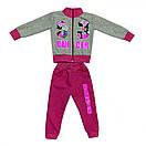 Стильный костюм спортивный детский для девочки с принтом Original players двухнитка, фото 3