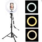 Кольцевая лампа светодиодное LED кольцо PULUZ для блогеров без штатива и с штативом, фото 3