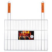Решетка для гриля Скаут 54х38см с двумя деревянными ручками KM-0739