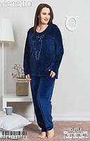 Комплект женской домашней одежды,  (Кофта длинный рукав+штаны) велюр, VS
