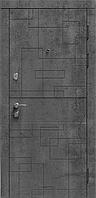 Дверь входная MODERN Лабиринт бетон темный/бетон серый комплектация Эталон