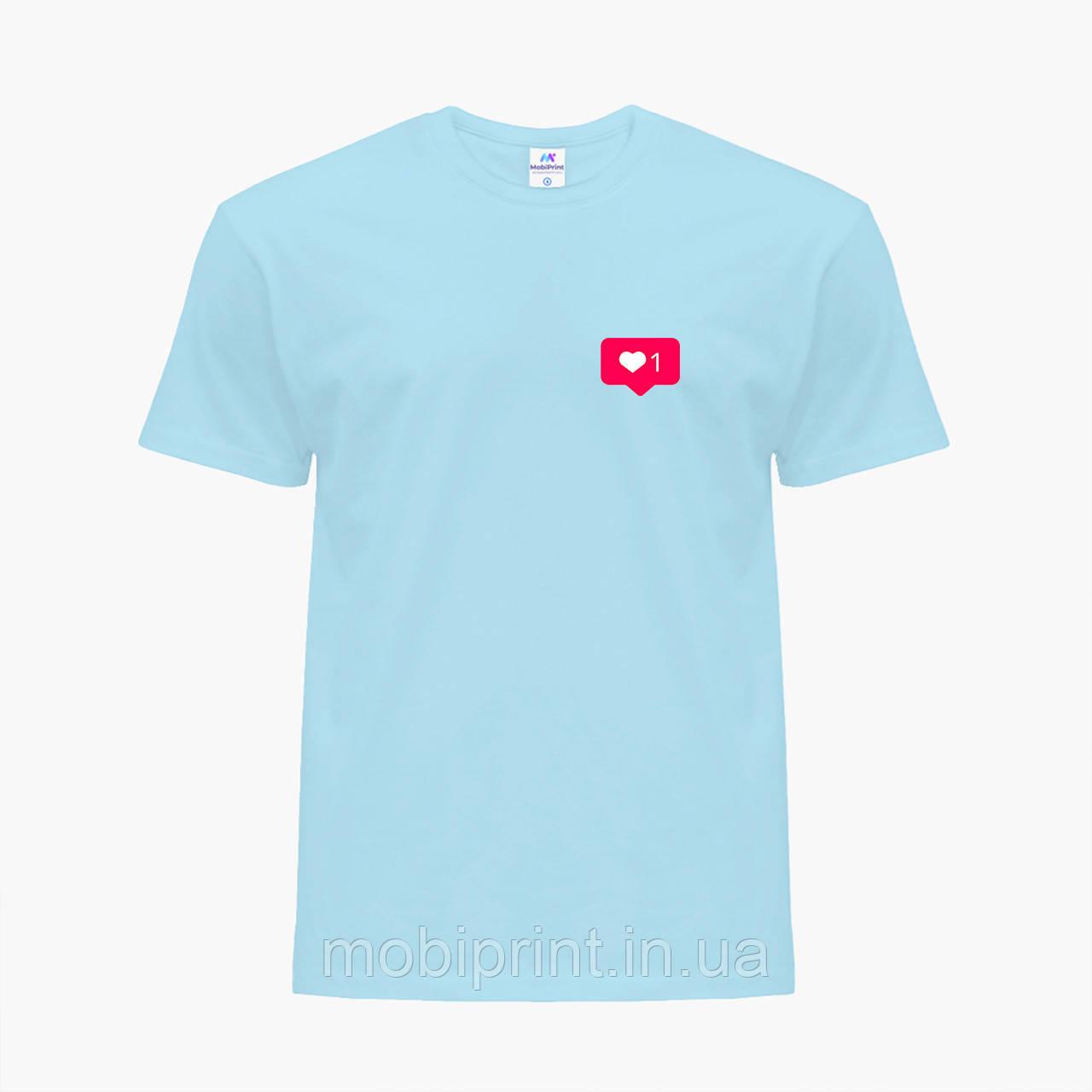 Детская футболка для девочек Лайк (Likee) (25186-1034) Голубой