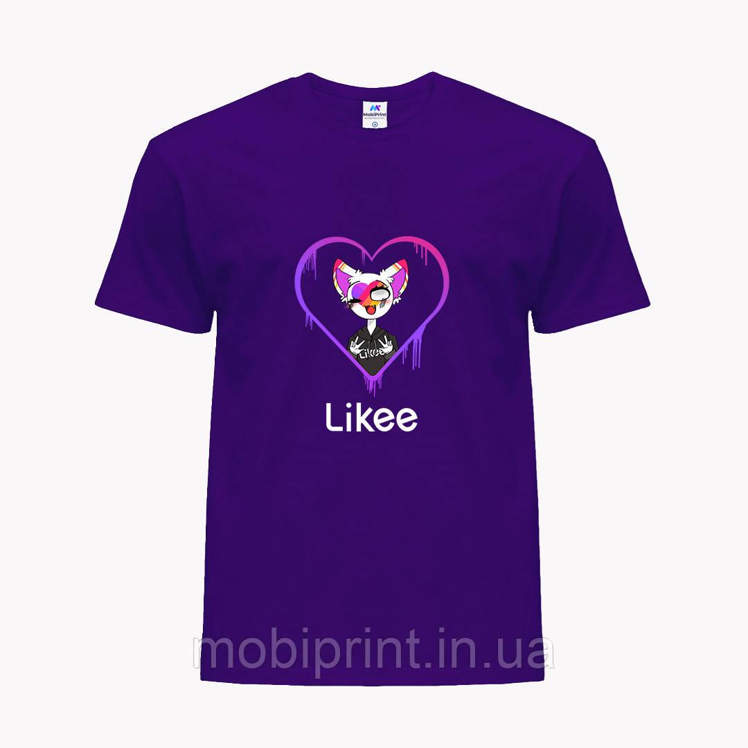 Детская футболка для девочек Лайк (Likee) (25186-1038) Фиолетовый