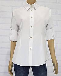 Блузка школьная с длинным рукавом для девочки, Milana (размер 176)