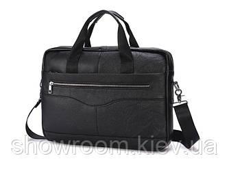 Мужская деловая кожаная сумка для ноутбука Leather Collection (373)