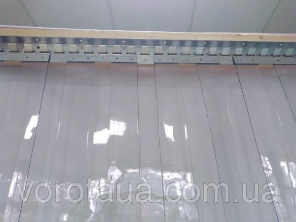 Пленочные полосовые ПВХ завесы прозрачная гладкая 2х300