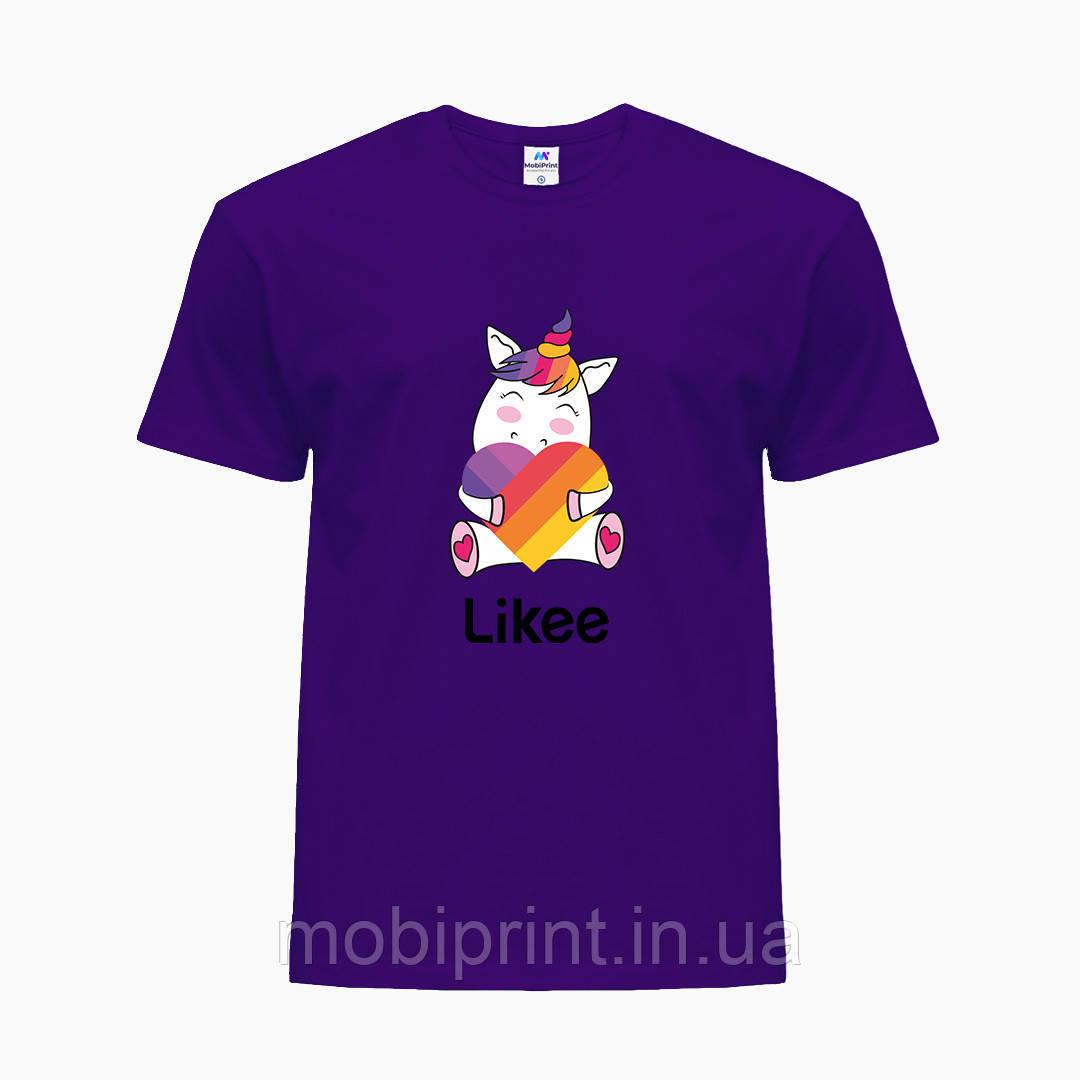Детская футболка для девочек Лайк (Likee) (25186-1037) Фиолетовый