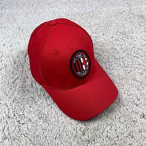 Кепка, бейсболка Милан (AC Milan) красная