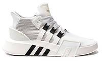 """Мужские кроссовки Adidas Equipment *EQT* Bask ADV """"White Black"""" - """"Белые Черные"""" (Реплика ААА+)"""
