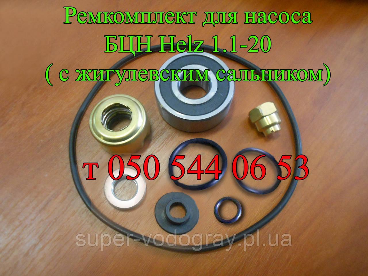 Ремкомплект для насоса БЦН Helz 1.1-20 (с жигулевским сальником)