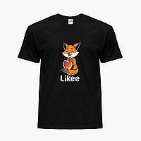 Детская футболка для девочек Лайк (Likee) (25186-1033) Черный, фото 1