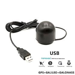 GPS приемник навигатор TOPGNSS GN503GL (TOP502), крепление магнит, IPX6, 72 канала