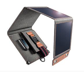 Солнечная панель зарядное устройство Choetech SC004 14W, на 1 USB выход, 5V/2.1А