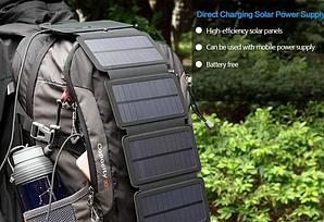 Солнечная панель зарядное устройство KERNUAP KER-SO1, на USB выход и micro-USB, 8W, 5V/2А